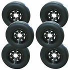 *6* Sailun ST235/85R16 Radial Trailer Tires & Wheels LRG 8-6.5 Black Spoke