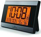 MARATHON CL030052GG Atomic Digital Wall Clock With Auto-Night Light, and -