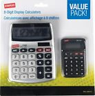 Staples 8-Digit Display Calculator, Value Pack