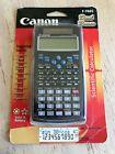 Canon F-766S Dual Power Scientific Calculator 349 Functions, 38 Formula built in