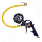 "Tire Inflator, 3-in-1 Inflation Gun, with, Locking Chuck and 2-inch Gauge, ¼"" NP"