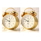 Sternreiter Double Bell Mechanical Wind Alarm Clock - Gold - Set of Two