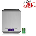Digital Kitchen Scale Silver Stainless Steel Electronic Easy Food weighning