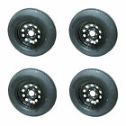 *4* Kenda K558 ST205/75D15 LRC Bias Trailer Tires & Wheels Black Mod 5-4.5