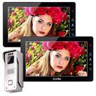 """Wired Entry Doorbell Black 9"""" LCD Video Door Phone Intercom 2x Screens"""