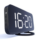 Home LED Alarm Clock Digital Clock Desktop Digital Table Large Display Black