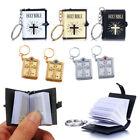 New Mini Bible Keychain English HOLY BIBLE Religious Christian Jesus Book Cross.