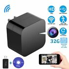 1080P WIFI 32G Hidden Spy Camera USB Wall Charger Night Vision Nanny Cam Lot KJ
