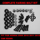 Black Complete Screws Fairing Bolt Kit fit HONDA CBR600RR F5 2009 2010 2011 2012