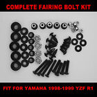 Complete Screws Black Fairing Bolt Kit fit for YAMAHA  YZF R1 1998-1999 USA SHIP