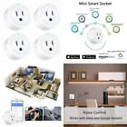 Amysen Wi-Fi Smart Plug, Mini Outlets Smart Socket No Hub Required Timing Functi
