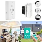 Wifi Smart Plug Outlet With 4.8A 2 Usb Charger And Night Light,Compatible With A