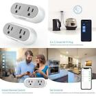 2 In 1 Smart Wi-Fi Plug, Vodool Dual Outlets Socket With Remote Control, Timing,