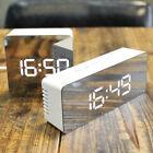 Digital LED Big Face Mirror Clock Alarm Bell Snoozing Clock 12/24H Thermometer