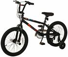 """Freestyle Bike 18"""" with Training Wheels Black Learn Play Fun Exercise Outdoor"""