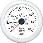 KUS Speedometer Boat Marine Speedo Meter Gauge 12V/24V 65MPH 100KMH 85mm