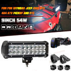 2x 9inch LED Offroad Work Fog Light Bar SUV ATV 4WD+Mounting Bracket Tube Clamps