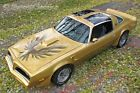1978 Pontiac Trans Am Deluxe Trim Package 1978 Firebird Trans Am Bandit in Gold! Fisher T-Tops 6.6 Shaker Hood!