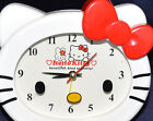 HELLO KITTY CLOCK - RED BOW - working