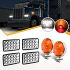 For Truck Trailer Peterbilt 379 Kenworth Mack RV Camper Headlights Tail Stop Led