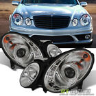 03-09 Mercedes W211 E-Class Projector Headlights w/Daytime DRL LED HID Version