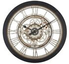 Large Wall Clock Roman Numeral Wall Decor Vintage Antique Industrial Rustic Gear