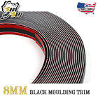 "192inch Molding Trim Strip 5/16"" Black Car Body Side Grille Decorate Adhesive"