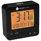 Ambient Weather RC-8300 Atomic Travel Compact Alarm Clock with Auto Night Light
