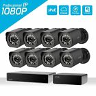Zmodo Full HD 1080p Outdoor Security Camera 8CH NVR PoE Repeater System 1TB HDD