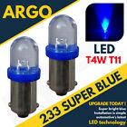 2X 233 BA9S T4W XENON LED BLUE SIDELIGHT BULBS RENAULT R10