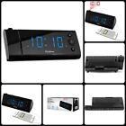 "Alarm Clock With Projection 1.2"" LED USB Charging Digital AM/FM Radio Black New"