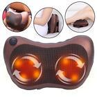 NEW Multifunction Electric Heat Lumbar Neck Back Waist Pillow Cushion Massager
