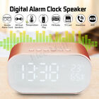 MECO Wireless Bluetooth Speaker Digital Alarm Clock Stereo Mirror Music Party