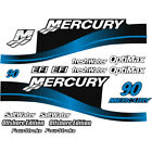 Mercury Outboard Cowling Decal Sticker Set 90 HP OptiMax Four Stroke EFI Blue
