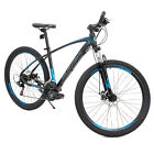 "27.5"" Mountain Bike Bicycle 21 Speeds Aluminum Frame dics brake in Red Black"