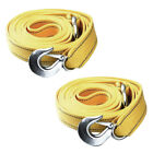 "2 Pack 2""X20FT Tow Strap W/ Hooks 20,000 LB Capacity Recovery Rescue Winch Sling"