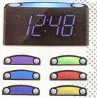 "Bedroom Alarm Clock - 12/24 Hours, 7 Colored Night Light, 7"" Large Green Display"