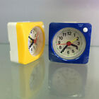 Travel Alarm Clock with Snooze Battery Operated Bedsides Alarm Clock Blue
