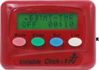 INVISIBLE CLOCK-II  Timer w/Silent Or Beep Alarm Orange