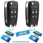 2 New Keyless Entry Remote Control Key Fob For Buick Chevrolet GMC 5-Button