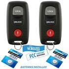QTY 2 For Mazda 3 Mazda 6 2004-2008 KPU41846 Remote Key Fob Keyless Transmitter