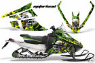 Snowmobile Graphics Kit Decal Wrap For Wrap Arctic Cat F Series Z1 MOTORHEAD GRN