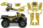 ATV Graphics Kit Decal Sticker Wrap For Can-Am Outlander XMR 500/800 BONES YLLW