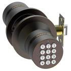 TurboLock Keyless Electronic Keypad Entry Door Lock Smart Knob Kit (Bronze)