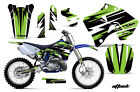 Dirt Bike Graphic Kit Decal Sticker Wrap For Yamaha YZ125 YZ250 96-01 ATTACK GRN