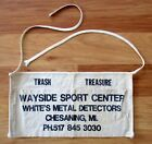 White's Metal Detector Pocketed Canvas Apron~ Wayside Sports Chesaning, Michigan