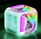 Unicorn Alarm Clock 7 Colors LED Night Light