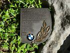 VINTAGE AUTOMOBILE CAR BADGE / TROPHY # BMW GLAS FIM WORLD CHAMPIONSHIP 1969