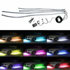 4pcs RGB LED Waterproof Car Decoration Strip Light Neon Light Set Wireless Contr