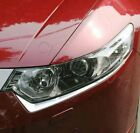 2X Chrome Front Head light Eyelid Cover Trim For 2009-2014 Acura TSX Sedan